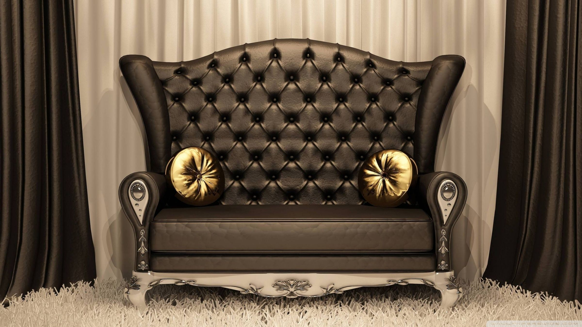 Classic Black Sofa HD desktop wallpaper High Definition