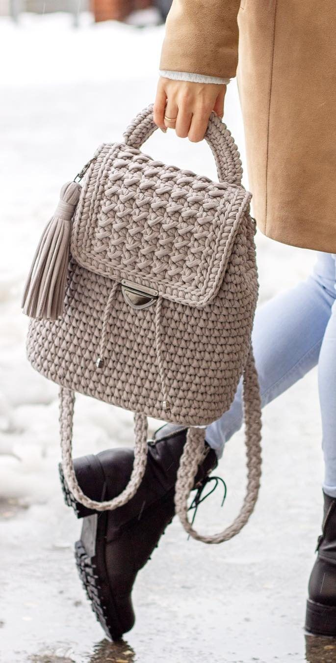 40+ Free Crochet Bag Patterns and Hand Bags 2019 - Page 33 of 39 #crochetpatterns