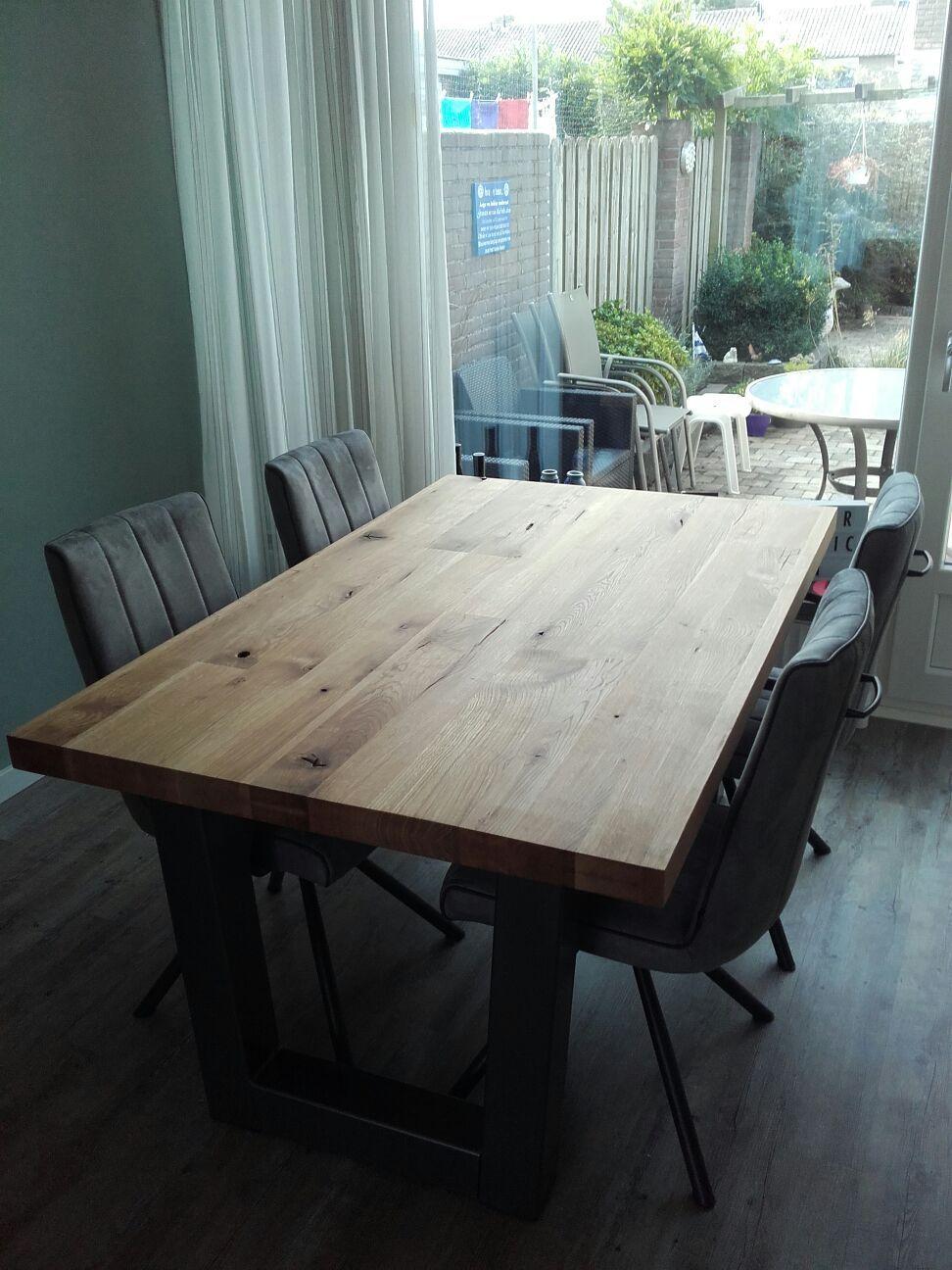Schitterende Eetkamer Tafel.Schitterende Tafel Van H H Industrieel Vintage Dining Table