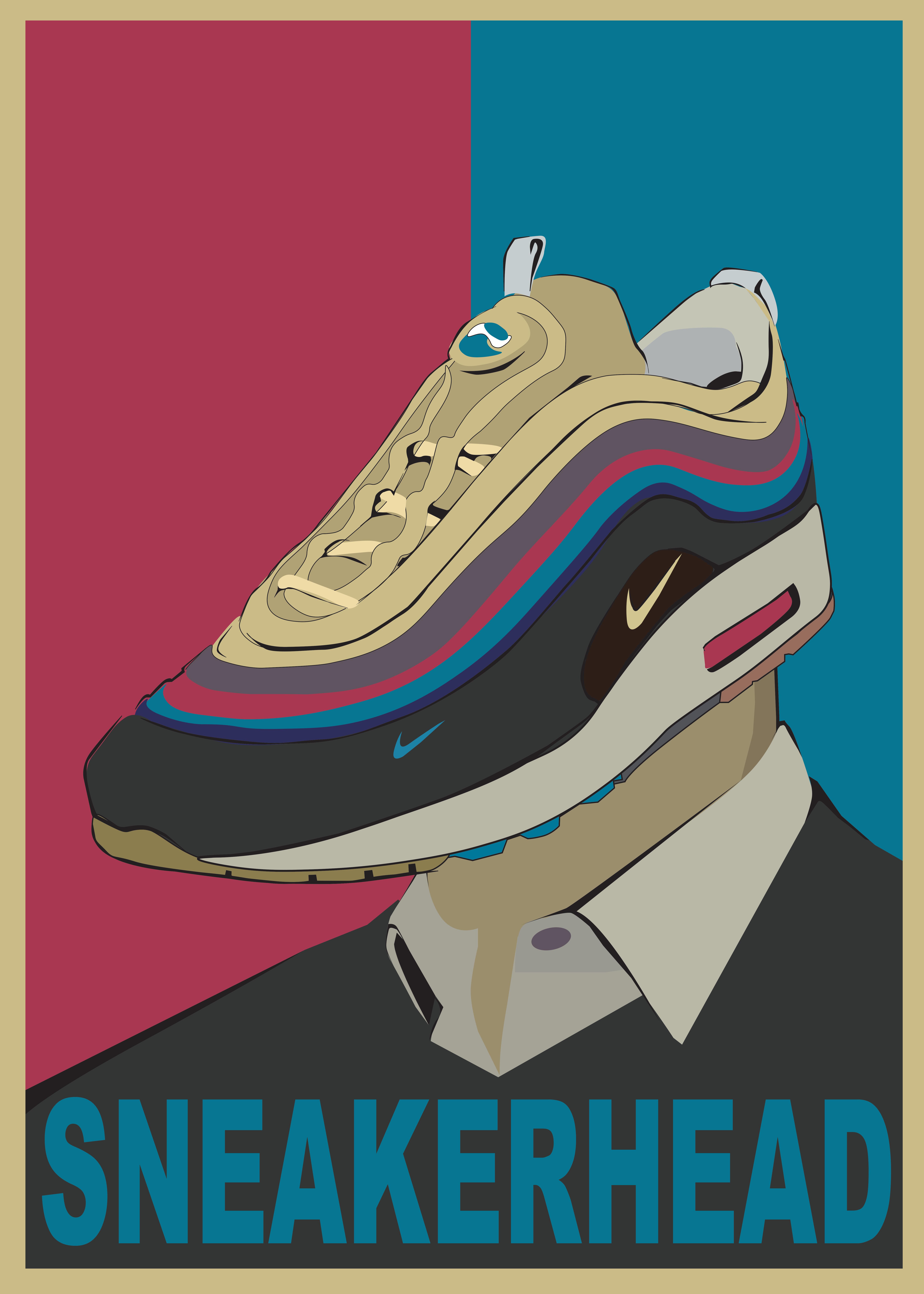 Sneakerhead Poster Airmax 1 97 Sean Wotherspoon Hypebeast Poster Streetwear Poster Wall Art Sneaker Art Sneaker Head Sneakers Wallpaper