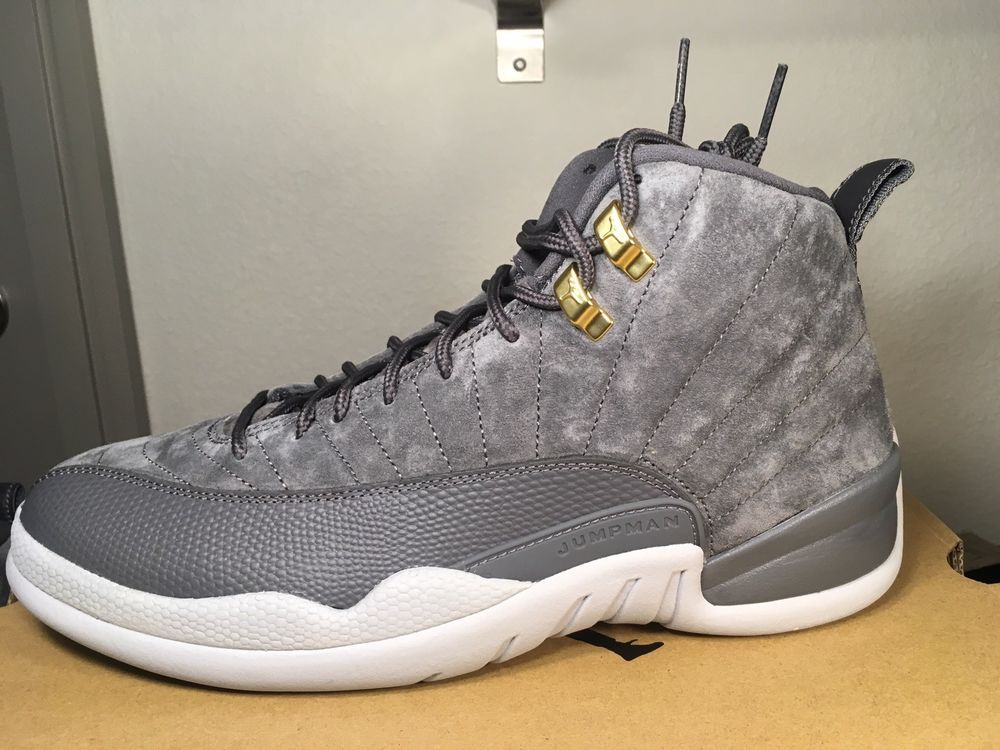 online store ace56 2f136 NIKE AIR JORDAN 12 RETRO Dark Grey Wolf Gray Gold Suede 130690 005 Size 9.5   fashion  clothing  shoes  accessories  mensshoes  athleticshoes (ebay link)