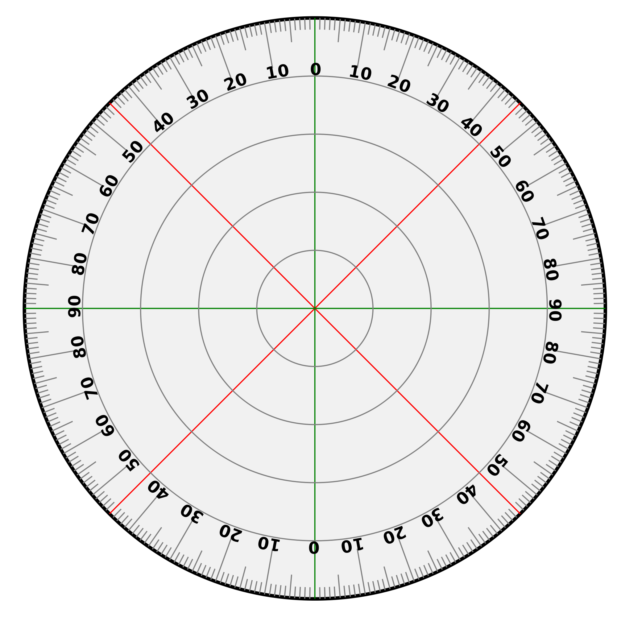 60 Degree Angle Template