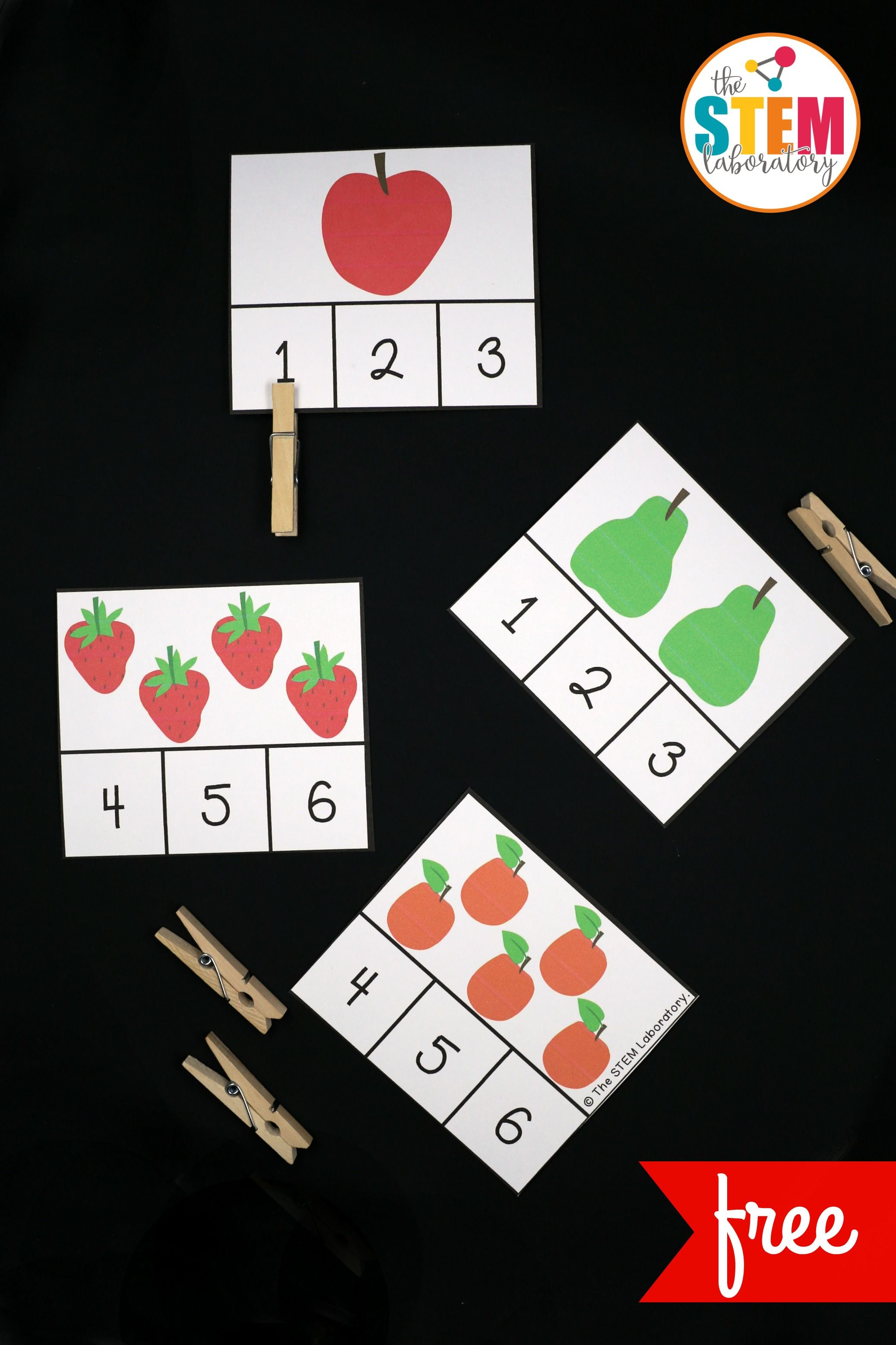 Very Hungry Caterpillar Clip Cards