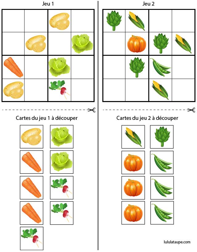 Jeu de sudoku à imprimer gratuitement, maternelle MS et GS | Sudoku à imprimer, Nourriture pour ...