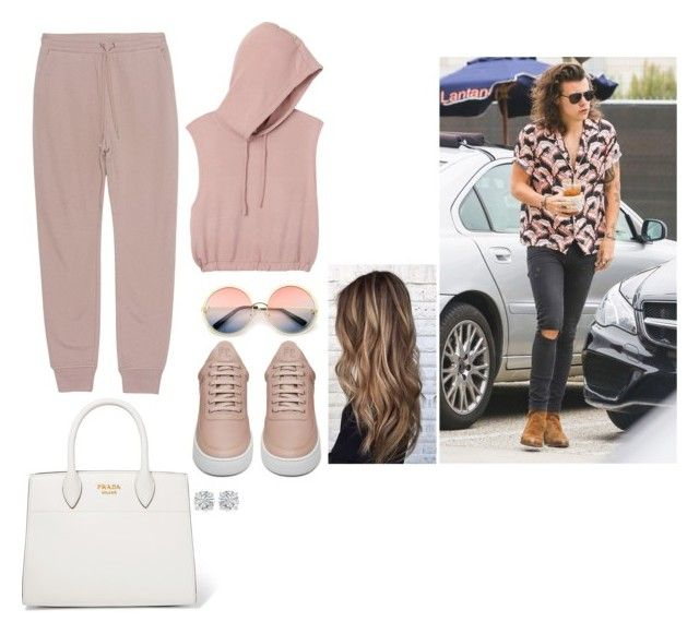 """""""Pink🌸"""" by jacquirose16 on Polyvore featuring RVCA, T By Alexander Wang, ZeroUV, Prada, Filling Pieces and Amanda Rose Collection"""