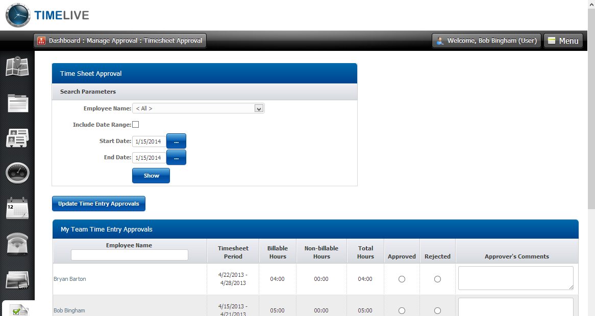 timelive offers you a customizable free online timesheet calculator