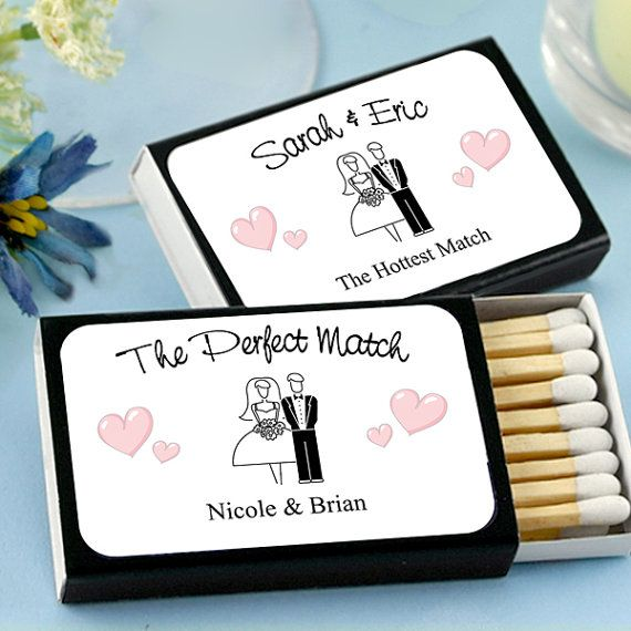 Personalized Bride and Groom Matches Matchbox by BestDayEverSpot