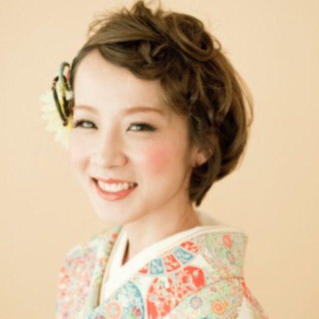 短い髪でも楽しめる 着物に似合うショートヘアのスタイル集 着物