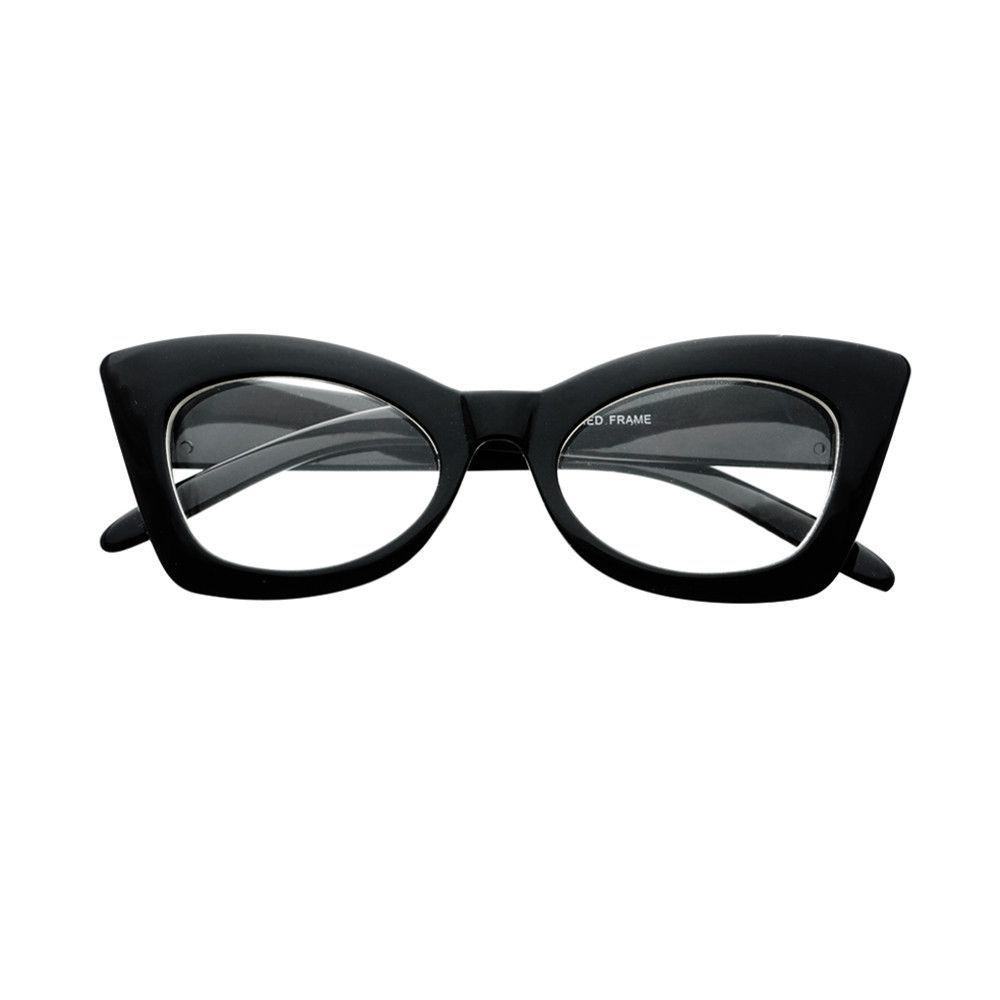 Cute Vintage Retro Style Clear Lens Cat Eye Glasses Frames C46 ...