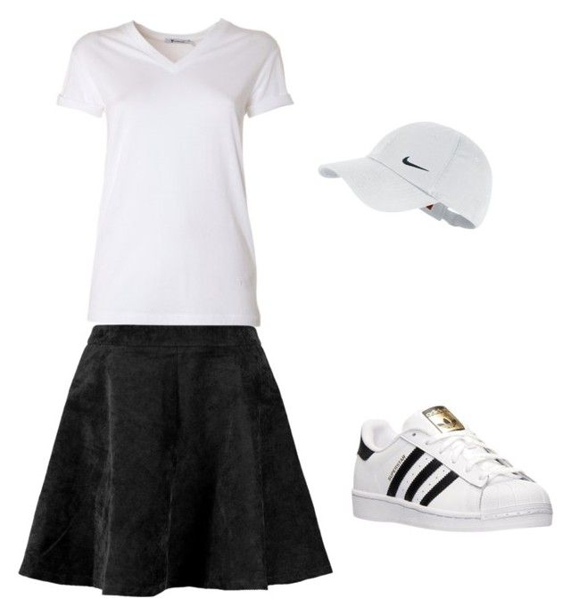 """GOLF"" by look-sofia ❤ liked on Polyvore featuring T By Alexander Wang, adidas and NIKE"