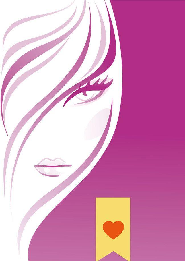 salon hair cartoon purple gradient posters beauty face quote