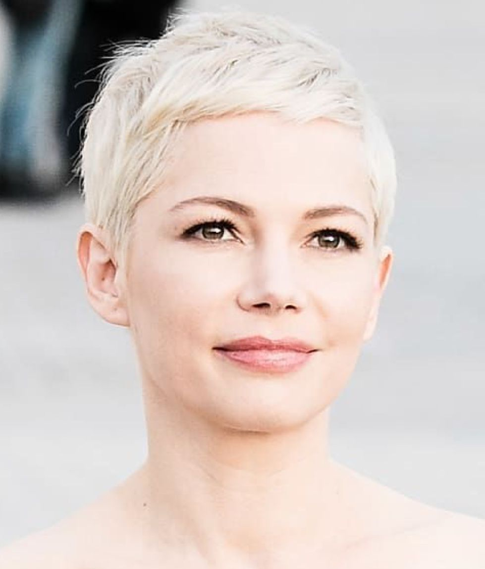 Michelle Williams Short Hair Styles For Round Faces Michelle
