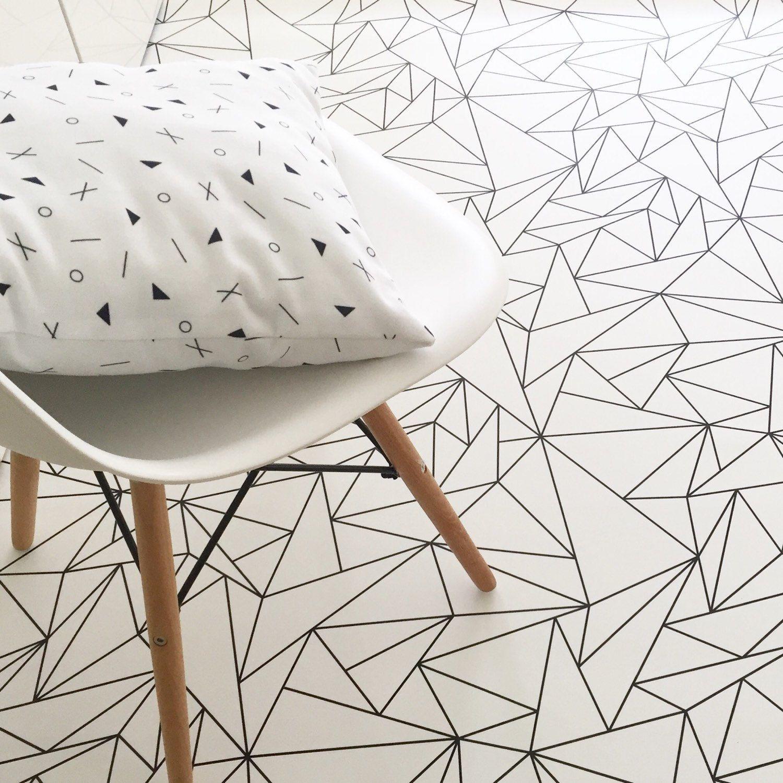 Geometric Triangles Rug / Minimalist Kids Room / Monochrome Rug ...