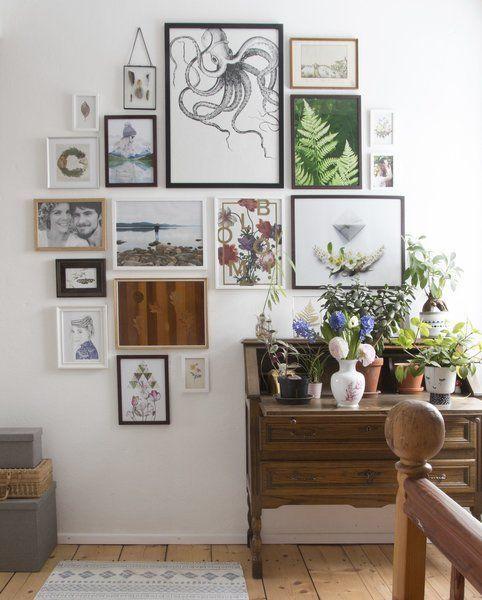 20 Wandgestaltung wohnzimmer bilderrahmen