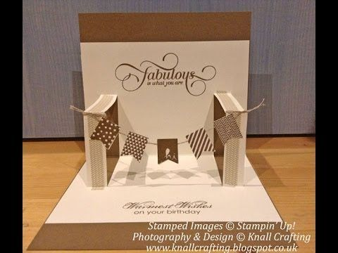 Pop Up Banner Card Tutorial Wwwknallcraftingblogspotcouk - How to make a pop up birthday invitation