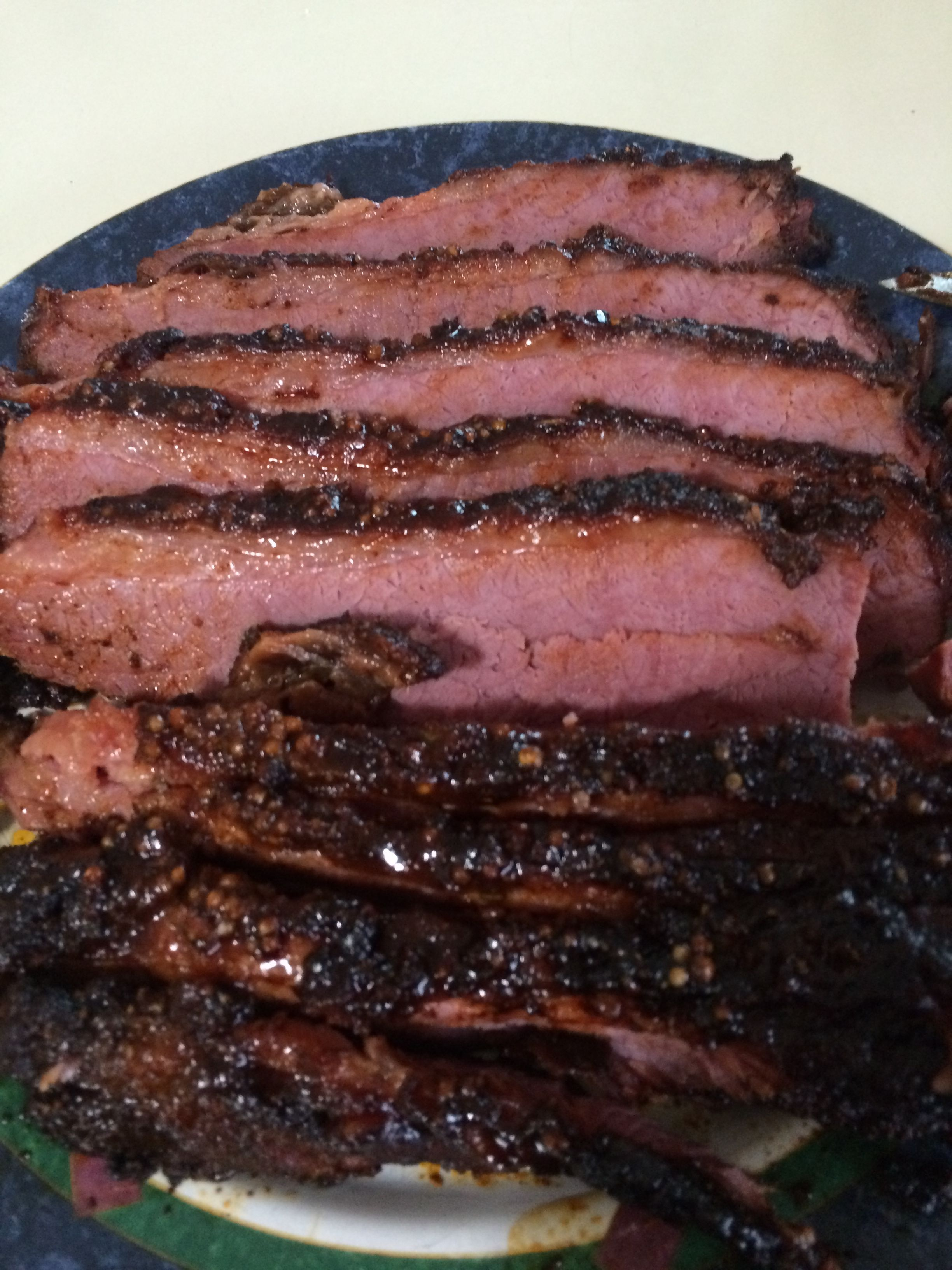 Smoked corned beef brisket christmas pinterest smoked corned