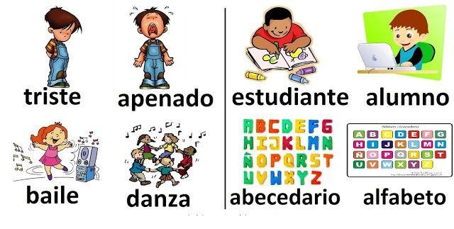 Resultado de imagen de palabras sinonimas con dibujos