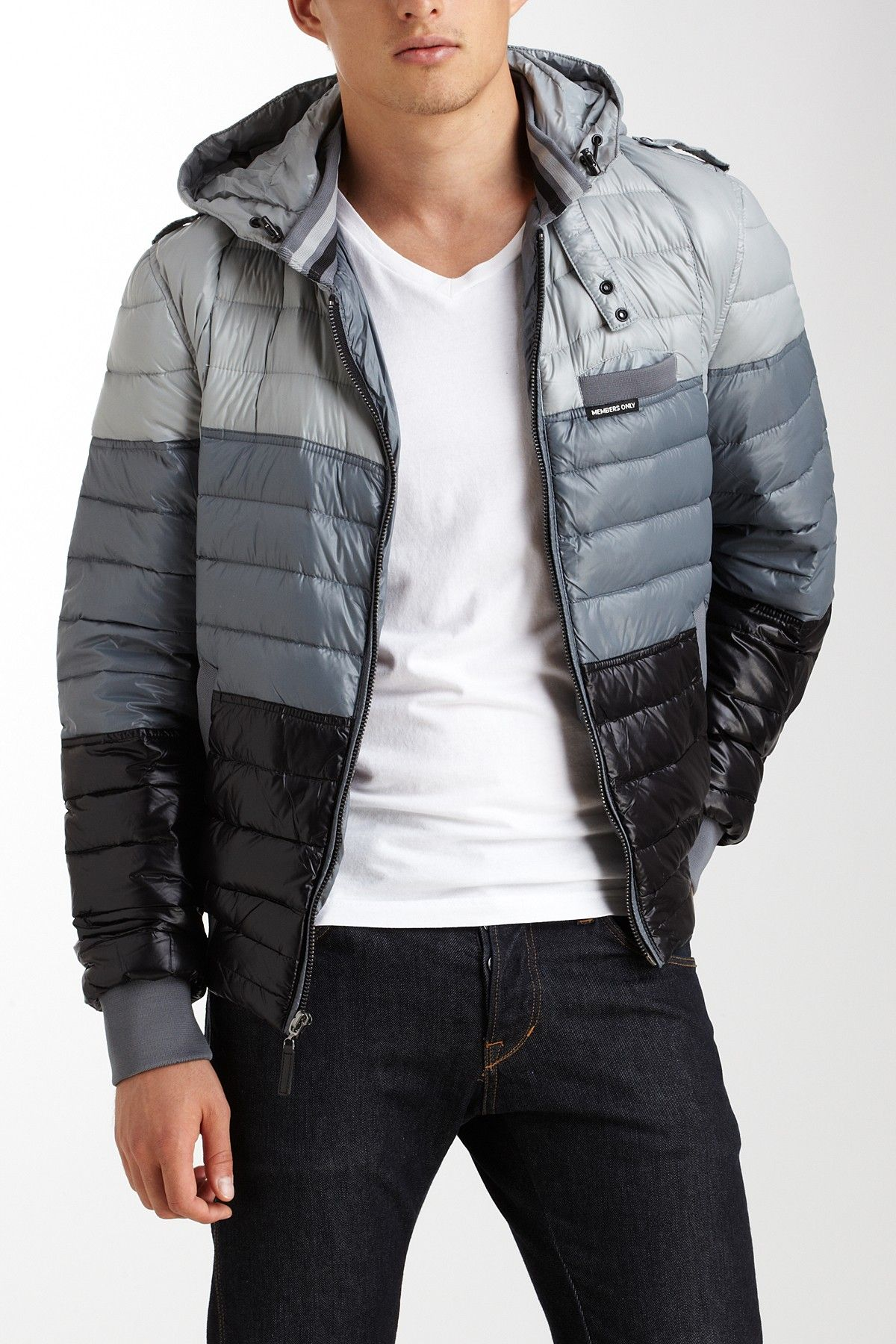 Members Only Slimmed Down Multicolor Puffer Jacket Mens Jackets Jackets Mens Outfits [ 1800 x 1200 Pixel ]