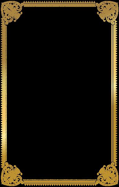 border frame gold deco png clip art image  frame border