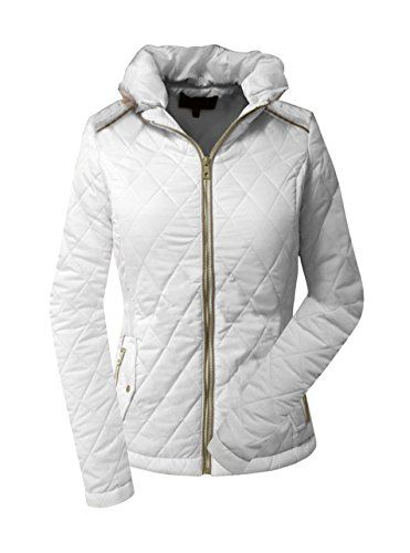 Tankoo Ladies Winter Fur Collar Thick Padded Jacket Offwhite 3xl