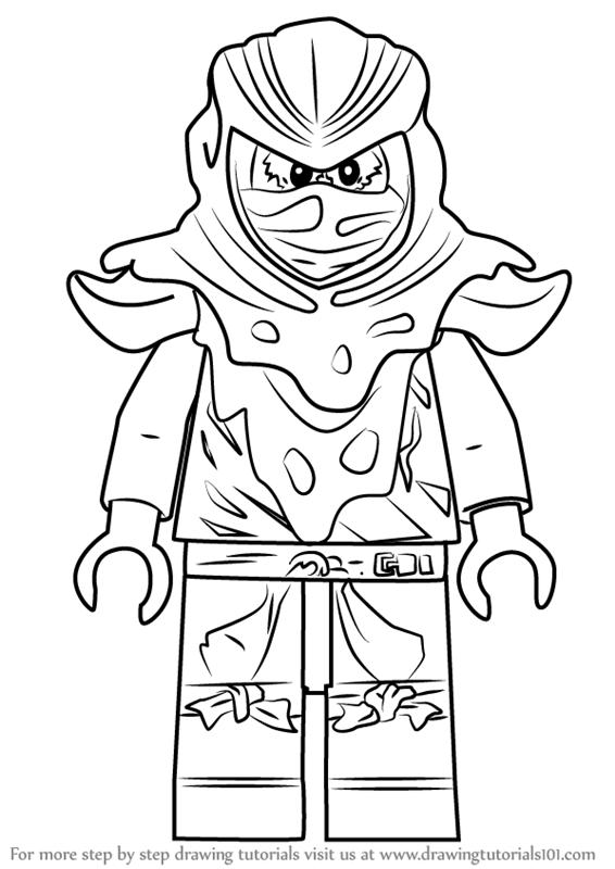 How to Draw Evil Green Ninja from Ninjago