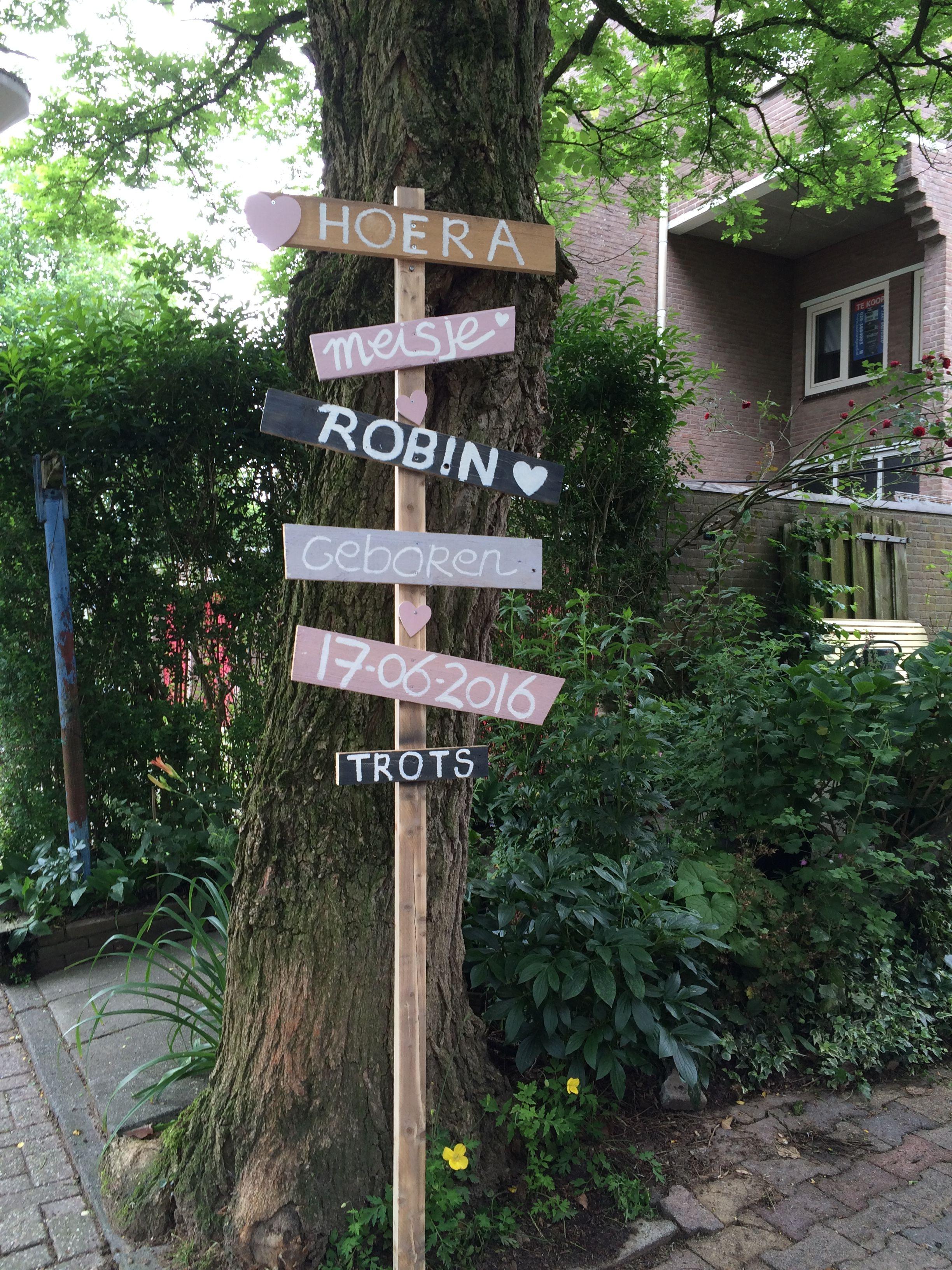 Voor de geboorte van mijn nichtje Robin...