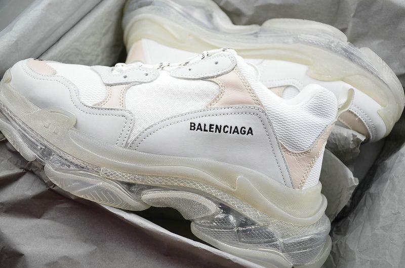Balenciaga Triple S Clear Sole Trainer Sneaker Shoes White