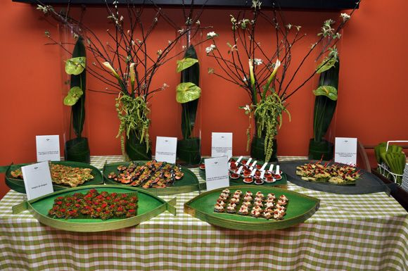 buffet tablescapes Delicious Canapes at my Birthday Party At