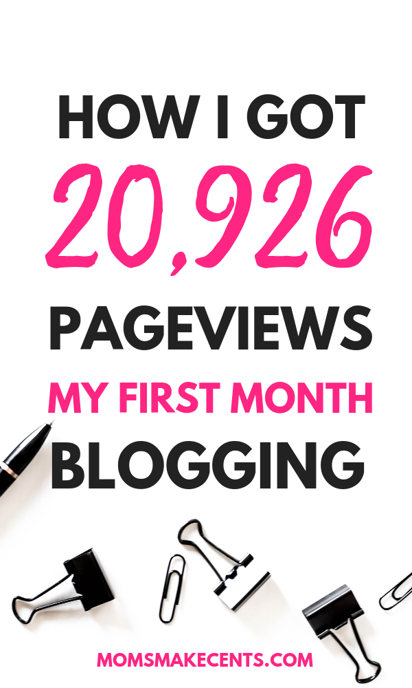 How I Got Over 20k Pageviews In My First Month Blogging In 2020 Blogging For Beginners Blogging Advice How To Start A Blog