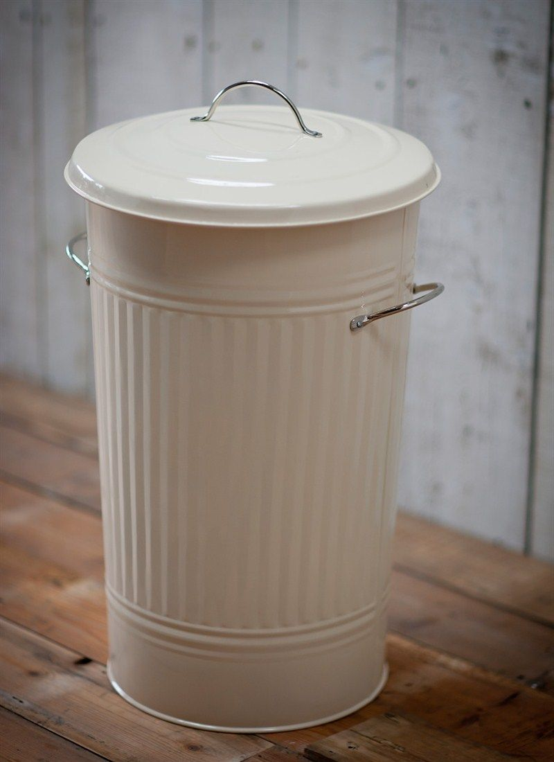 This Traditional Powder Coated Steel Kitchen Bin Has A 46 Litre Capacity And Is Great For Holding Hiding Rubbish In The Utility