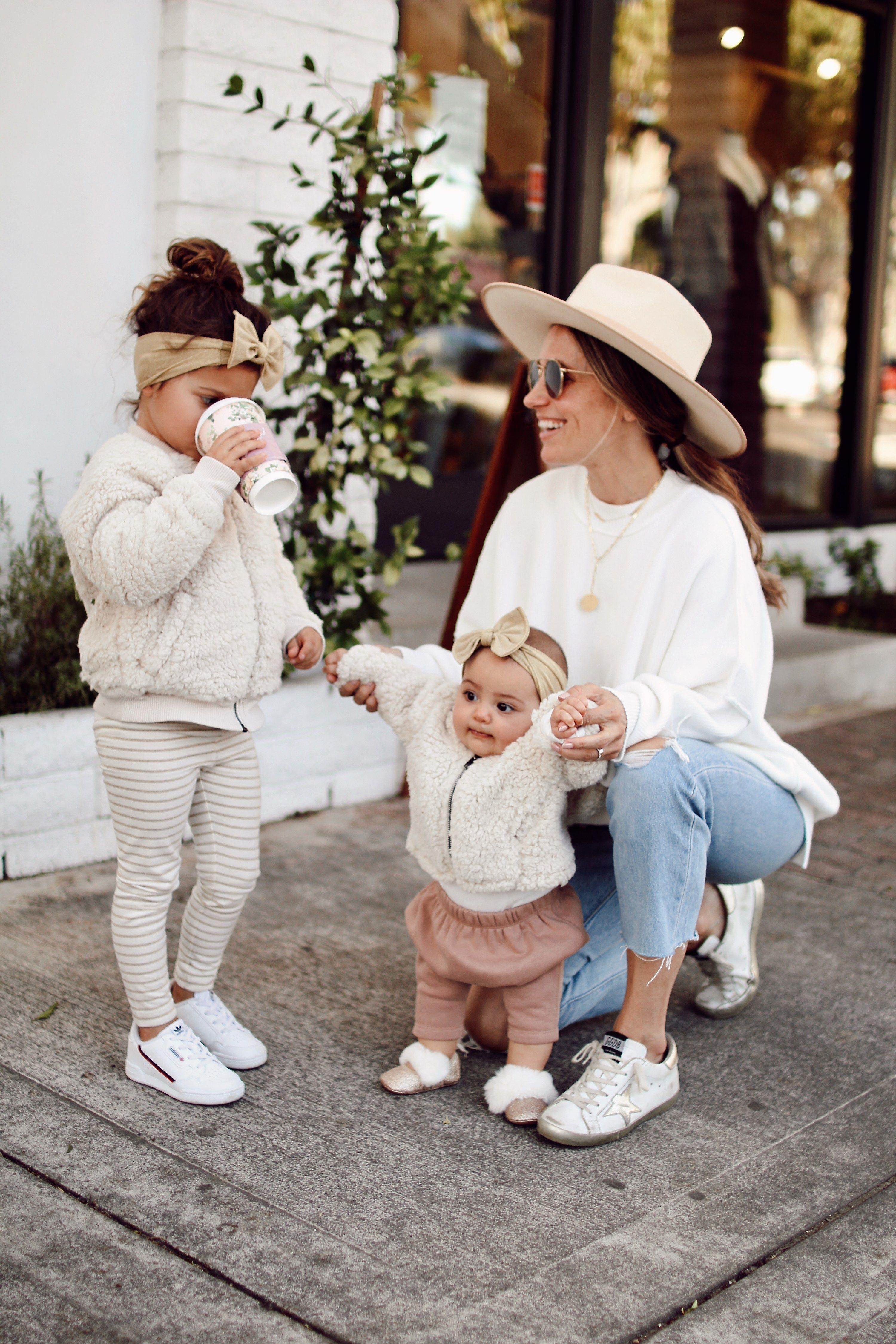 Motherhood || Dressing A Toddler + Two Matching Sherpas #fallootd #falloutfits #babylove #style