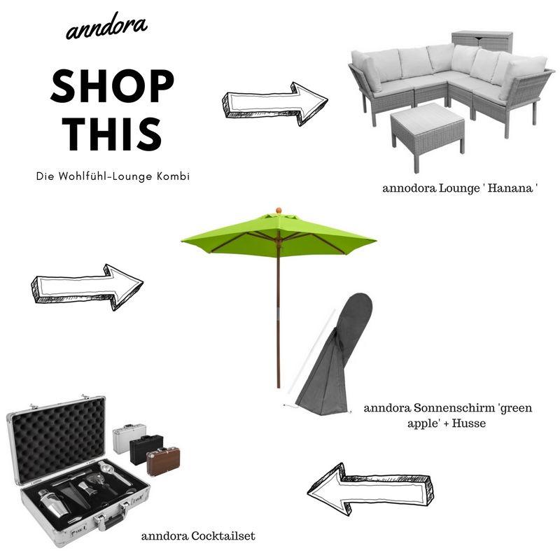 Hier Findet Ihr Die Produkte Zum Sofort Shoppen Https Www Anndora De Haus Garten Gartenmoebel Sitzgruppen Anndora Hanana Poly Sitzgruppe Sonnenschirm Lounge