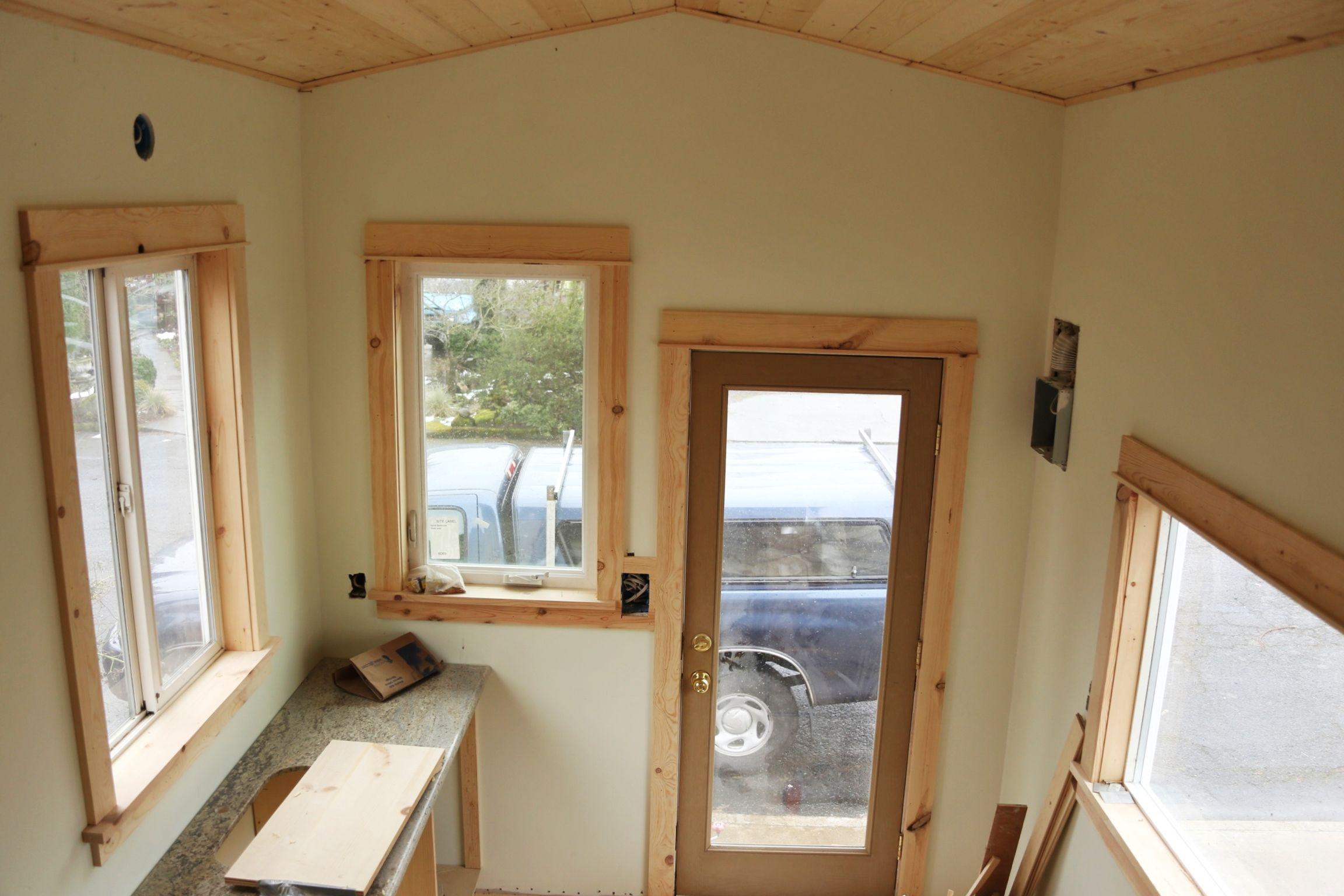 Simple interior window trim - Birch Wood Trim House Google Search