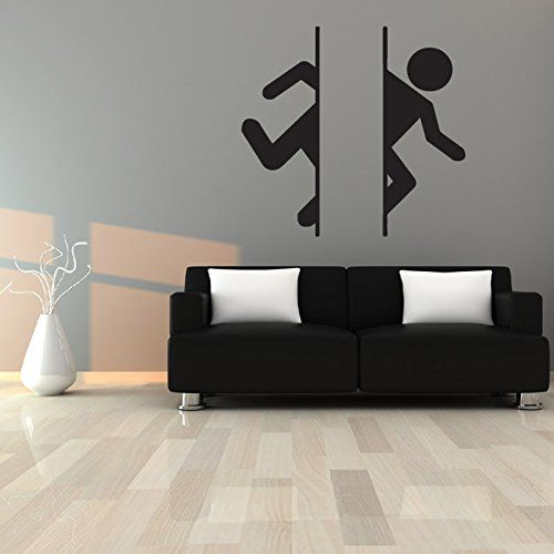 Portal Logo Wall Sticker Gaming Wall Decal Art available in 5 Sizes and 25 Colours Small Basalt Grey Amazon.co.uk Kitchen u0026 Home & Portal Logo Wall Sticker Gaming Wall Decal Art available in 5 Sizes ...