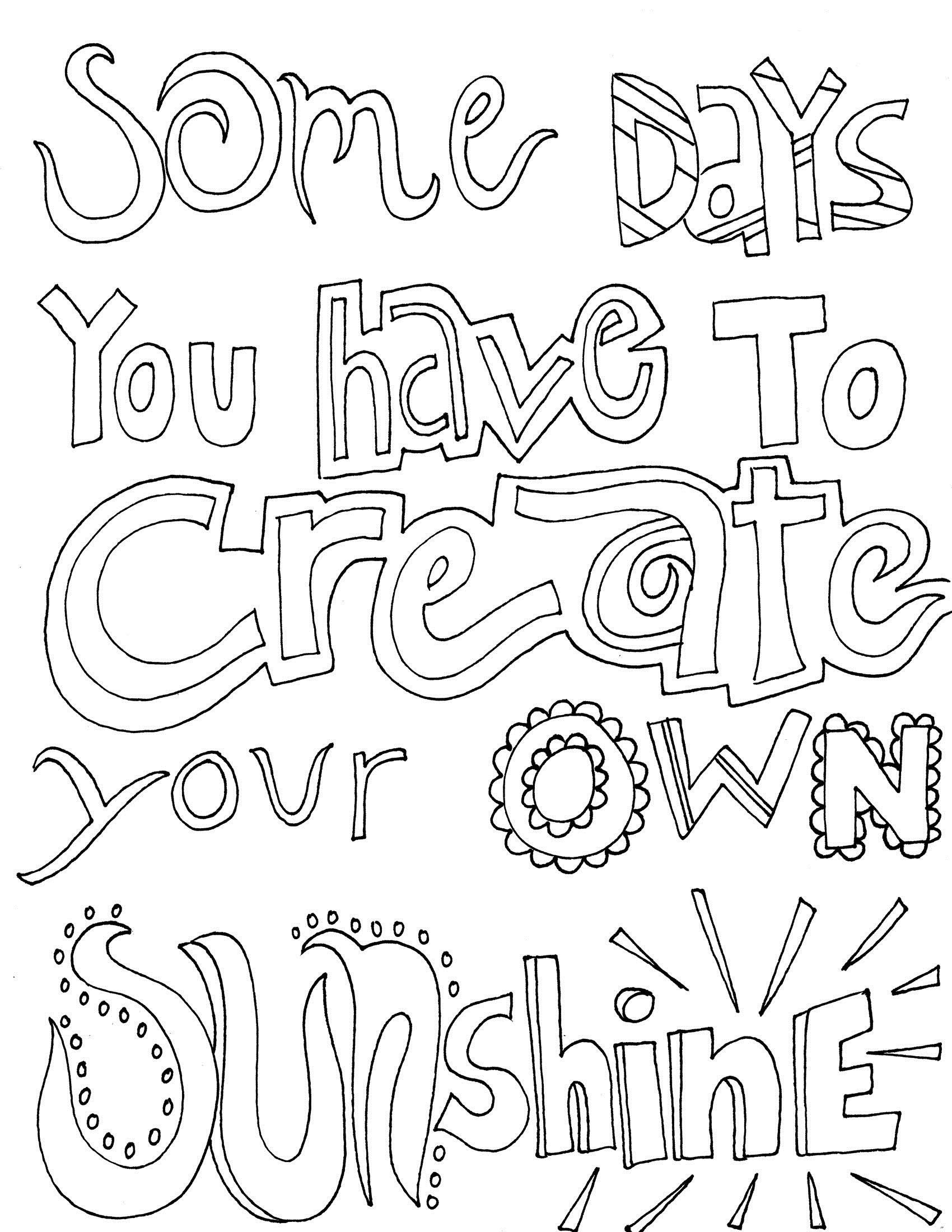 Quote And Sayings Coloring Pages Quote Coloring Pages Coloring