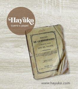 MANUAL DE CURIOSIDADES  Preparando un nuevo trabajo de encuadernación con el libro Manual de Curiosidades y secretos útiles. Arte del tocador y quitamanchas.   https://www.etsy.com/es/shop/HayukoCueroyPapel www.hayuko.com  https://www.facebook.com/hayukocueroypapel  https://www.instagram.com/hayukocrafts/ https://www.pinterest.com/infohayuko http://issuu.com/hayukocueropapel