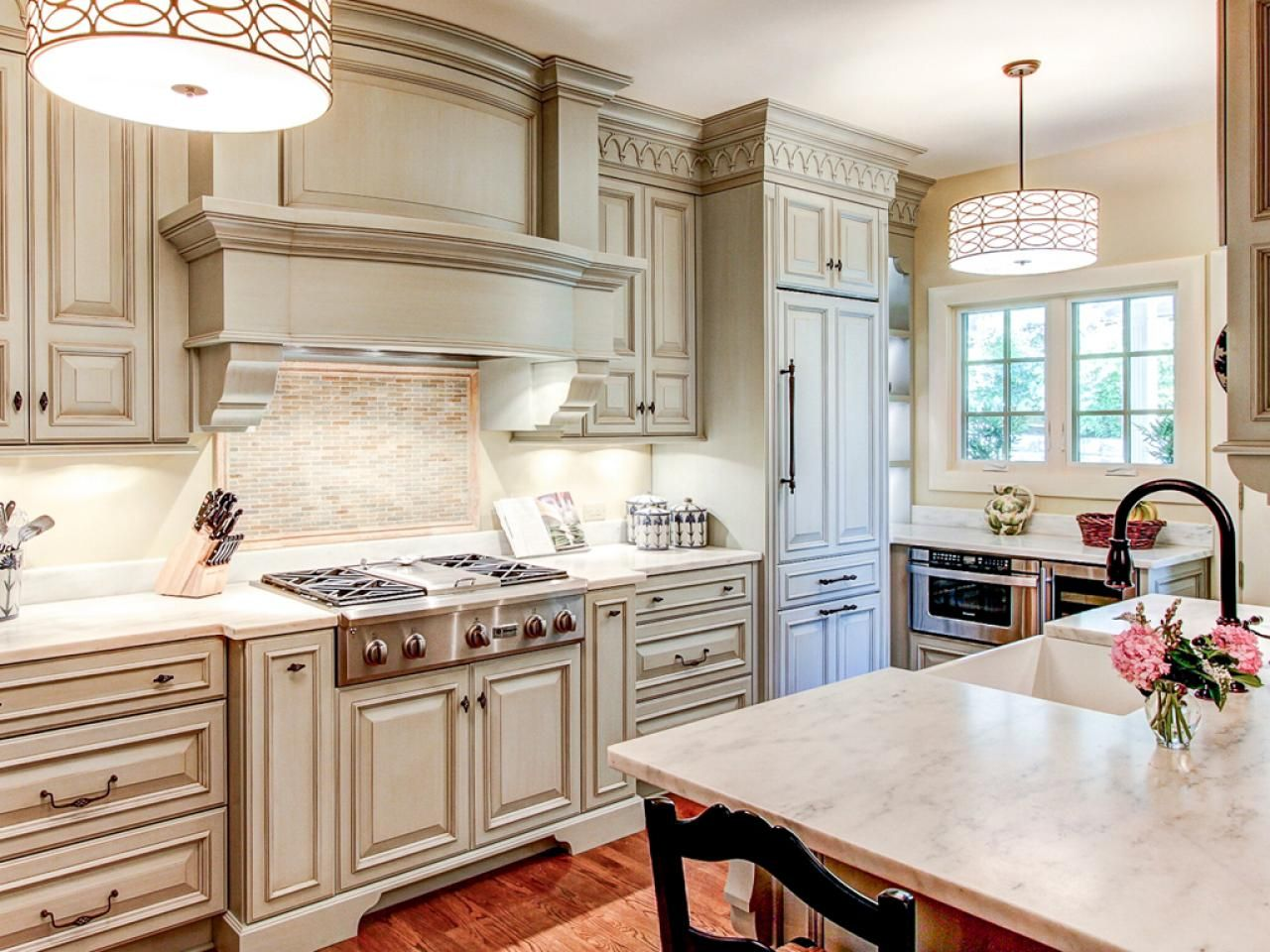 Craveworthy Kitchen Cabinets  Marble Countertops Raised Panel Adorable How To Paint Kitchen Cabinets White Inspiration