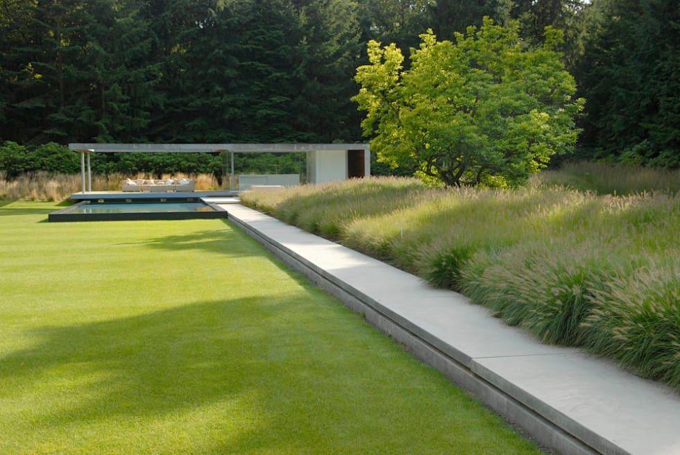 Villatuin noord holland: minimalistische tuin door andrew van egmond