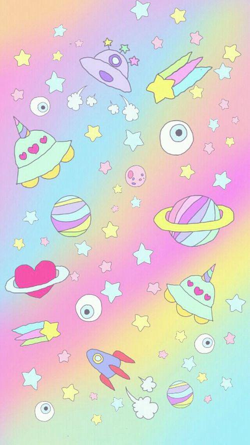 Wallpaper Pelangi Cute