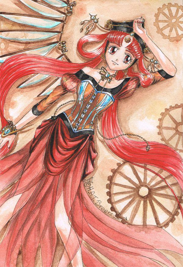 Steampunk Princess Kakyuu by Kythana.deviantart.com on @deviantART