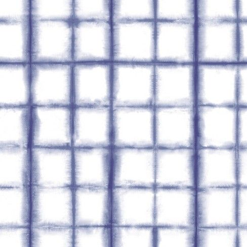 Shibori Indigo Self Adhesive Removable Wallpaper