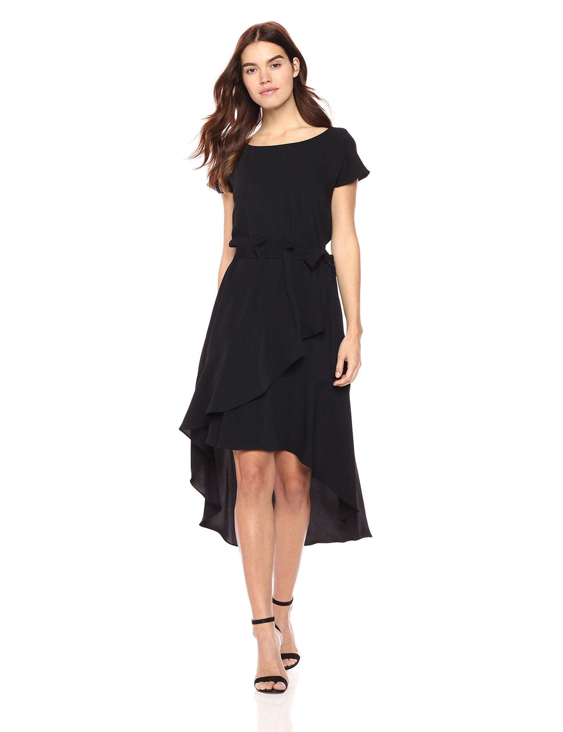 Laundry By Shelli Segal Womens Crepe Dress With Asymmetrical Hilow