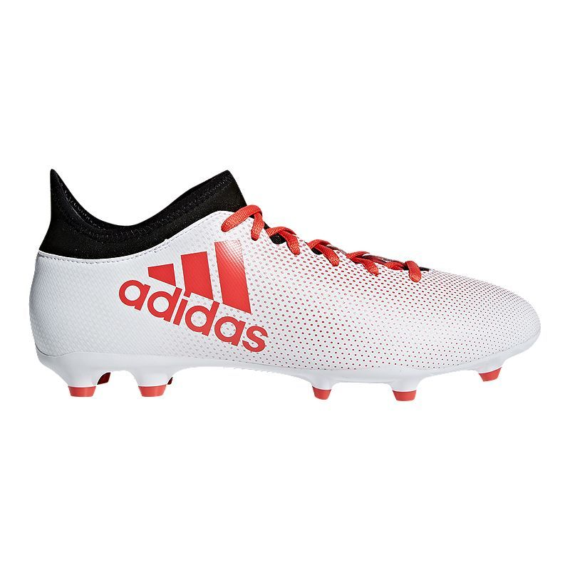 biggest discount online shop new specials adidas Men's X 17.3 FG Outdoor Soccer Cleats - White/Coral/Black ...