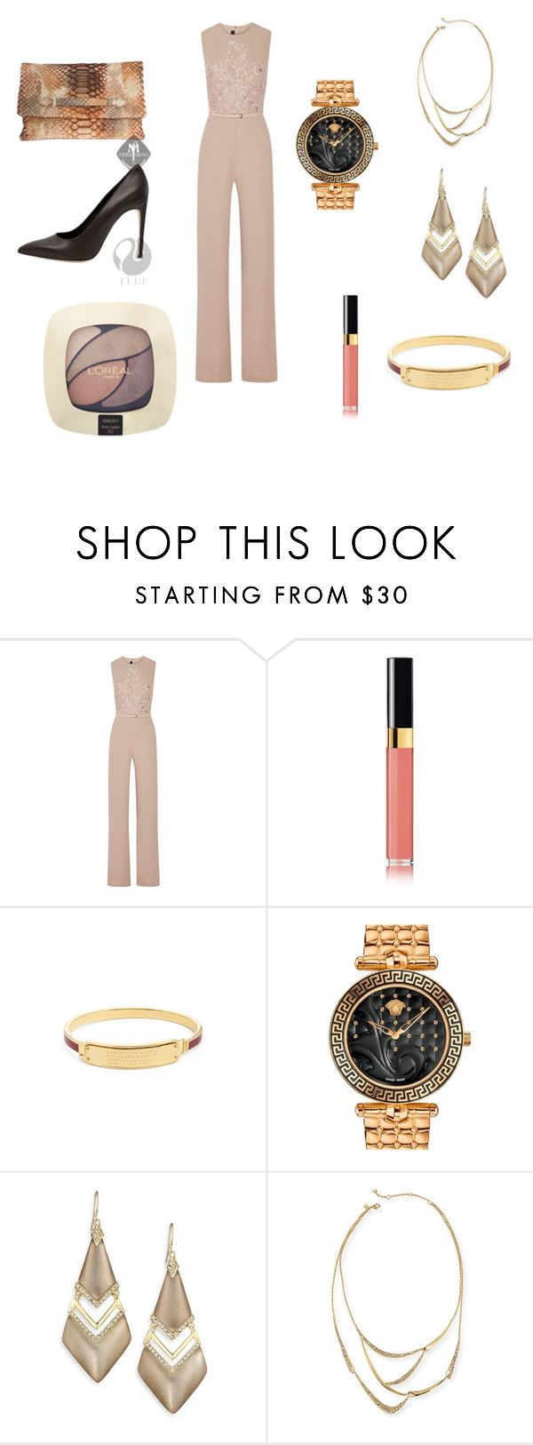 """Untitled #129"" by panicsam ❤ liked on Polyvore featuring Elie Saab, Chanel, Marc by Marc Jacobs, Versace, Alexis Bittar and L'Oréal Paris"