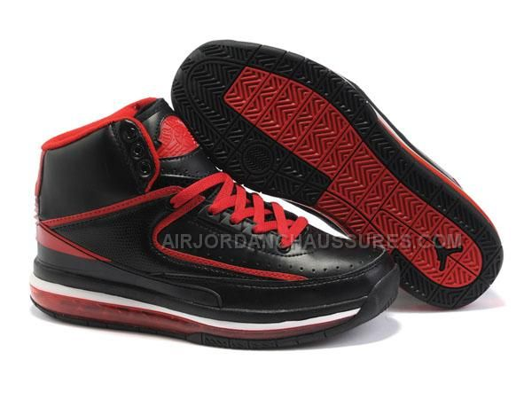 Latest Original Air Cushion Black Red Nike New Jordans 2 II Retro