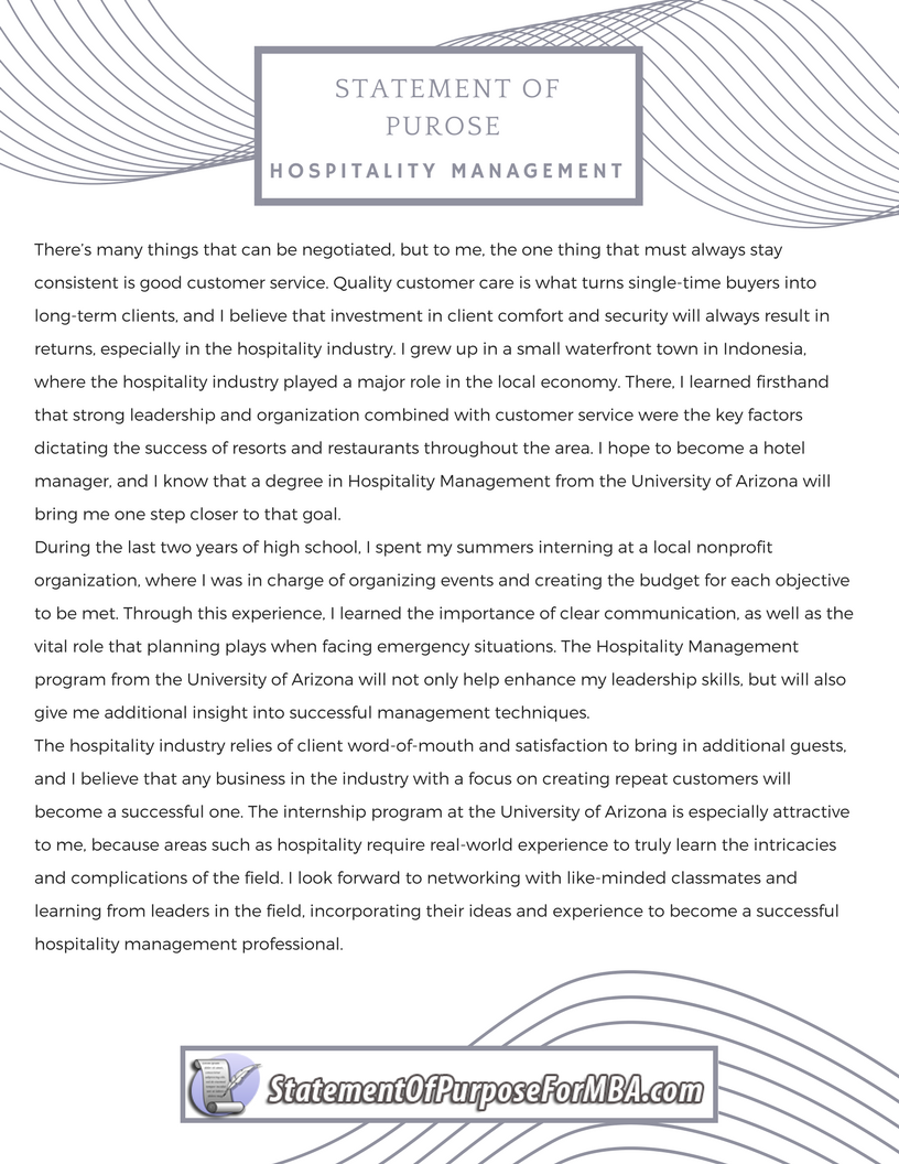 Resume writing services for hospitality