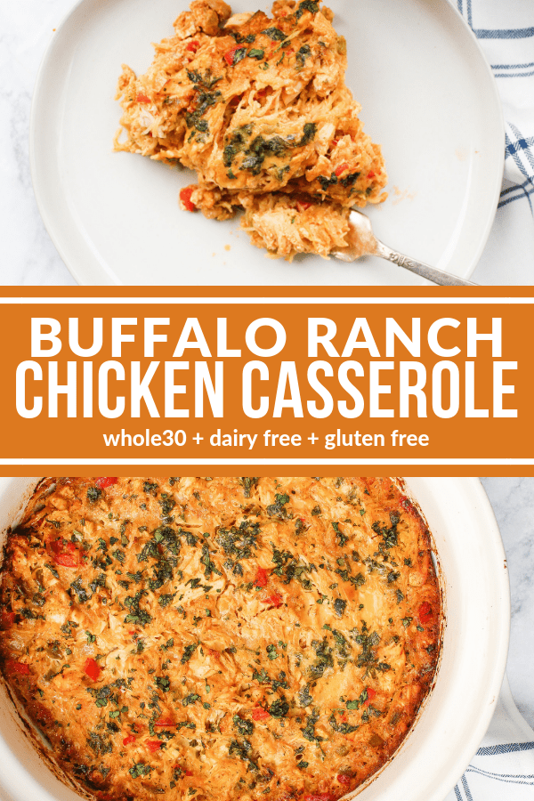 Buffalo Ranch Chicken Casserole Recipe Paleo Ranch