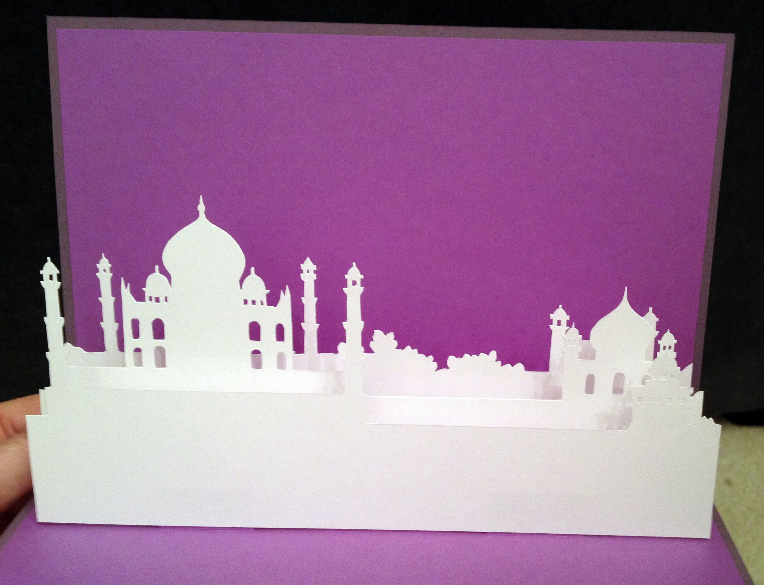 Taj Mahal Pop Up Card Template From Paysages En Pop Up Pop Up Card Templates Pop Up Cards Pop Up