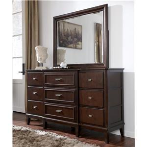 Larimer Dresser Bedroom Mirror By Ashley Millennium Ahfa Dresser Mirror Dealer Locator Dresser With Mirror Furniture Home Decor