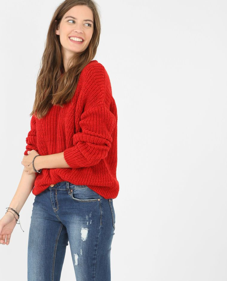 Pull grosse maille rouge   Come to mama   Pinterest   Rouge, Clothes ... af3dcd547aad